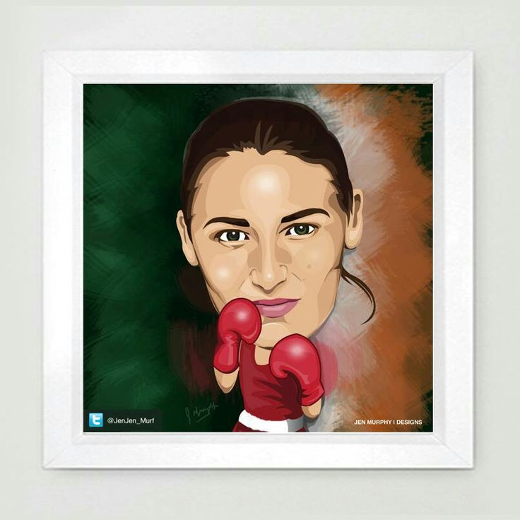 Katie Taylor caricature by @Jenjen_Murf #caricature #illustration #ledgend #boxer