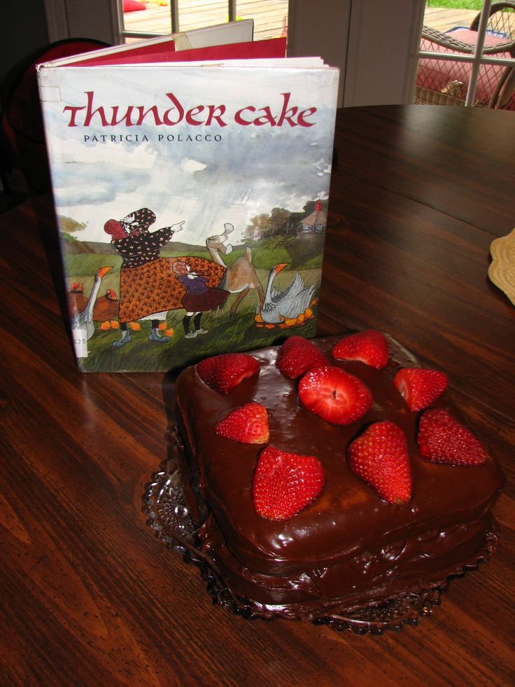 Thunder Cake; recipe from the book Thunder Cake by Patricia Polacco; use for weather/rain preschool lesson