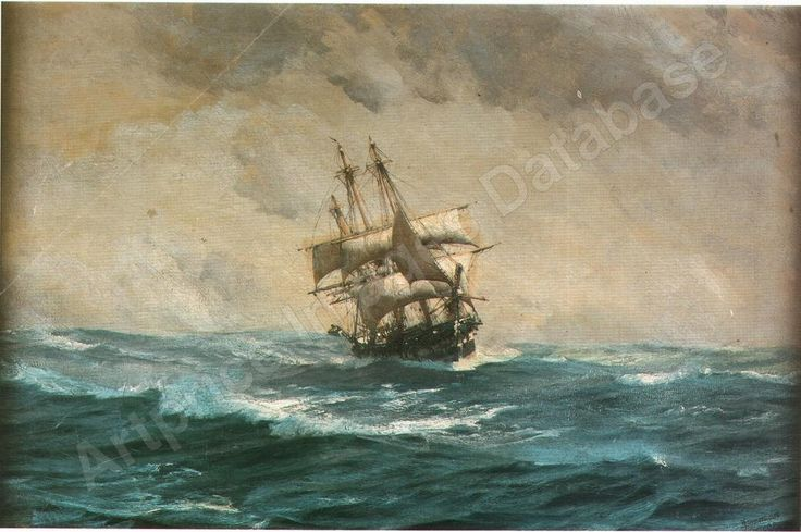 Reefed down and running before the wind, venta por subasta de thomas jacques somerscales