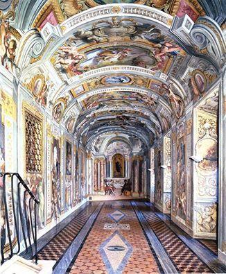 Andrea Pozzo (1642-1709) Casa Professa del Gesù, Roma. Corridoio, 1682-1685.