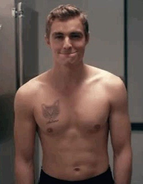 Dave Franco shirtless...