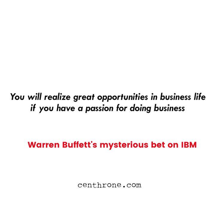 Warren Buffett's mysterious bet on IBM