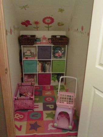 Ideas for turning under the stairs closet into a toy nook for Kyan.  :)