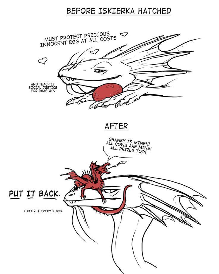 Temeraire Series: Temeraire and Dragon Eggs / Dragon Babys (by pencilcat)