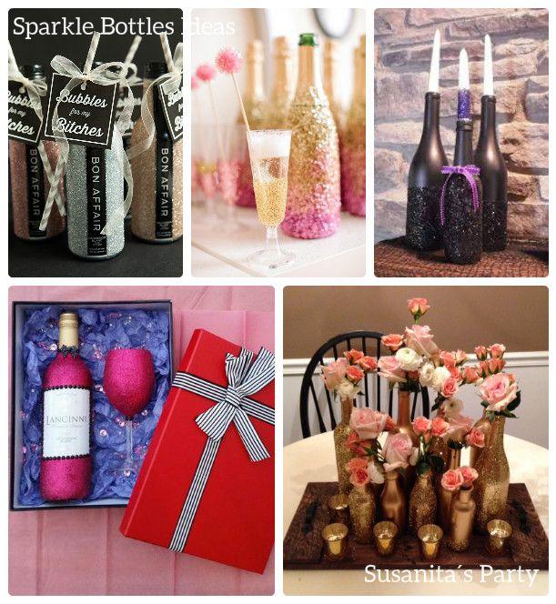 Ideas para decorar cpon Botellas Brillantes!! mucho mas en www.facebook.com/SusanitasParty ó instagram # susanitasparty #ideas #decoratedbottles #decorations #decorationsideas #decor #bottles #botellas #decorarbotellas #decoraconestilo #celebraconestilo #susanitasparty #talentovenezolano