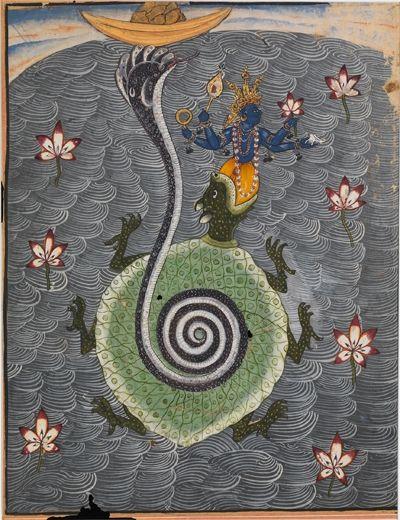 The Tortoise Avatar of Vishnu. 1694. Bikaner, India