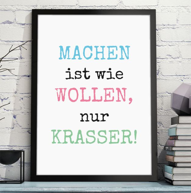 Kunstdruck in DIN A4, Spruchposter in Deutsch / funny saying as and art print, lettering home decor made by OWLBOOK via DaWanda.com