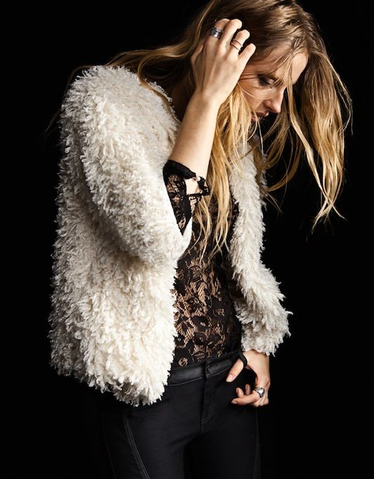 Lace and fur: Faux Fur, Fashion, You, Clothes, Street Style, Jackets, Rock