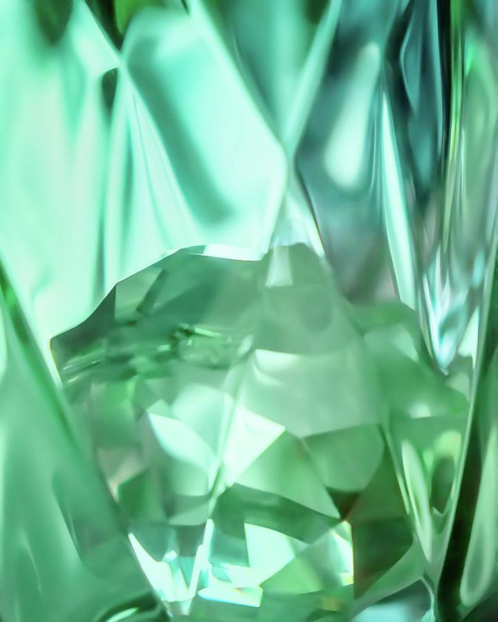 Jane Star Photograph - Green Crystal Bowl by Jane Star  #JaneStar #Abstract #Green #Glass #ArtForHome #InteriorDesign #HomeDecor
