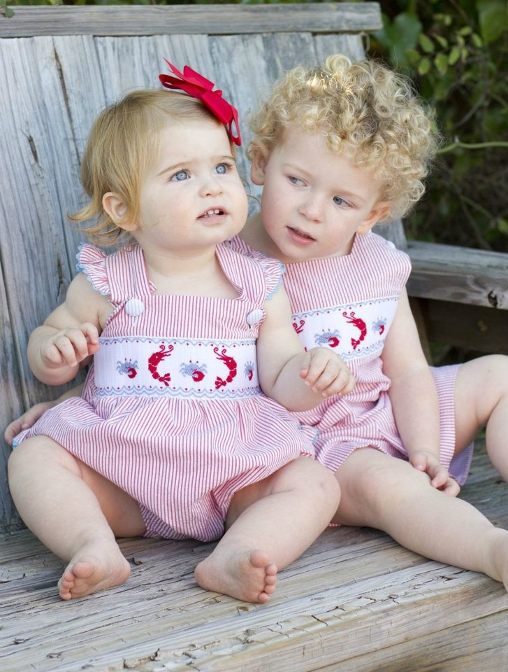 Shrimp and Grits Kids - Gators, crawfish, crabs, and shrimp. What every little southern kid eats and wears. Adorable and Affordable Hand Smocked Children's Clothing. @shrimpandgritskids