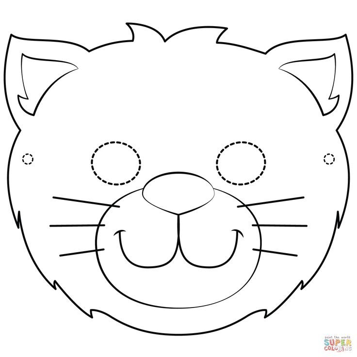 cat mask coloring page | free printable coloring pages