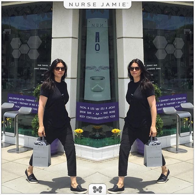 Always a fun time when the gorgeous Jodi Lyn O'Keefe stops by  #vampirediaries #vampire #love #celebrity #lifestyle #beauty #antiaging #nursejamiela #LookGoodFeelGoodBeGreat #LA #summer