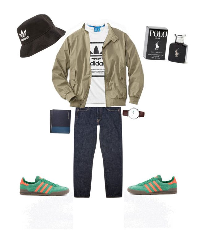 """Casual lads! Awaydays!"" by irisazlou on Polyvore featuring Levi's, adidas, adidas Originals, Lacoste, Burberry, Ralph Lauren, men's fashion et menswear"