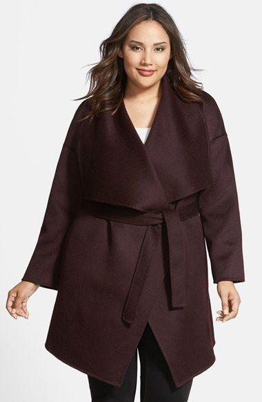 Fleurette Wool & Cashmere Double Face Wrap Coat (Plus Size) available at #Nordstrom