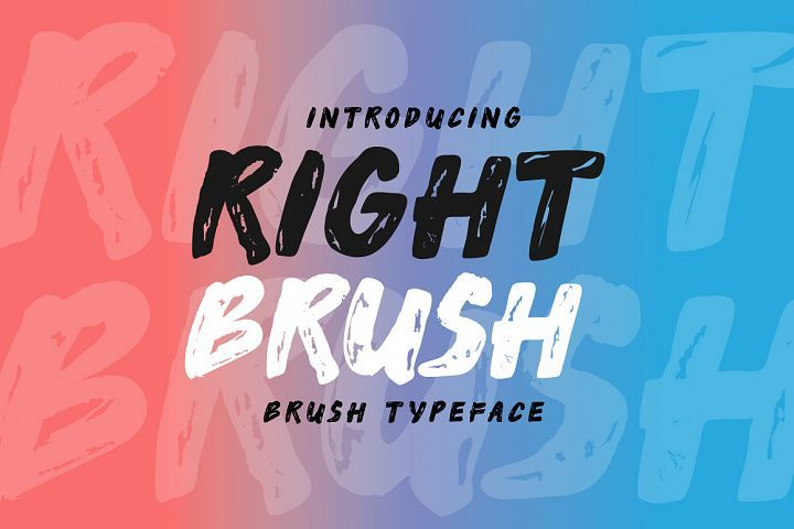 Download Right Brush Fonts Style 2019 Download Free Fonts From