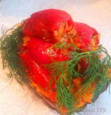 Закуска из красного перца с острой морковной начинкой! Просто, быстро, безумно аппетитно и с душой!!!