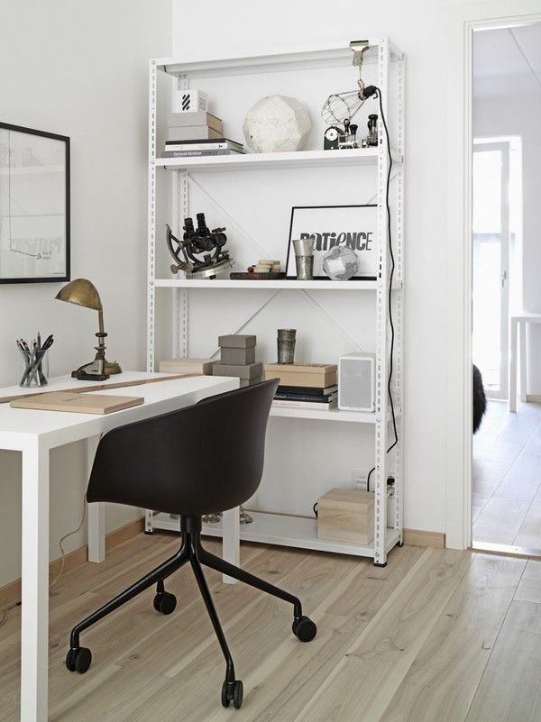 Brilliant Ideas To Make Scandinavian Home Office Designs: Interesting Idea  For Stainless Steel White Racks Design For Office Home Decor With.