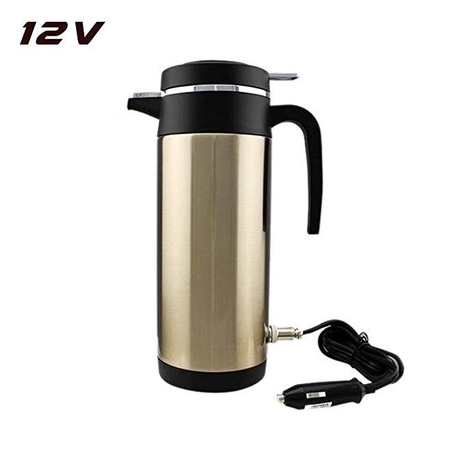Cup Car Electric Thermal Heating Water Boiling Kettle Travel Heater Coffee 12 V