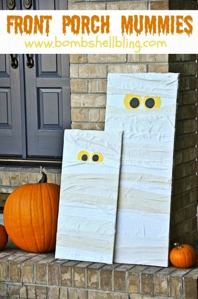 Front Porch Mummies from Bombshell Bling - These look so easy to make! I MUST make some for the porch! Love it!