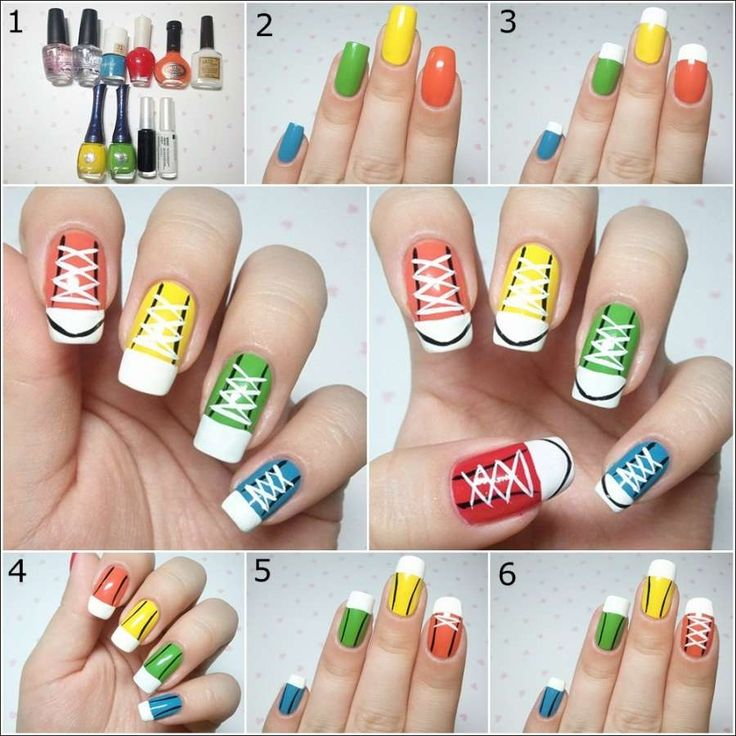 DIY Cool and Chic Sneakers Nail Art