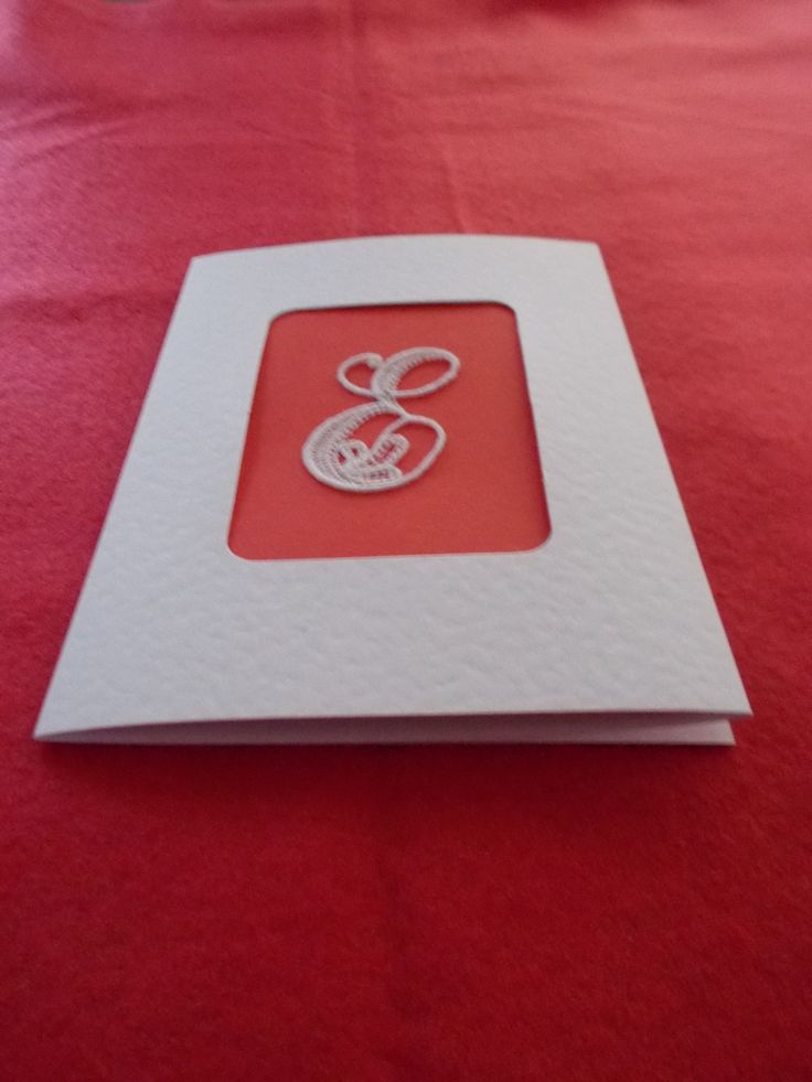 Greetings card with Belgian Lace by ItstheGirlthing on Etsy
