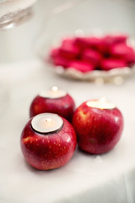 Make these apple tea light holders with this tutorial to show you how