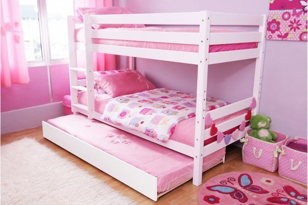 Double Deck and Extra Bed Bedroom for Girls