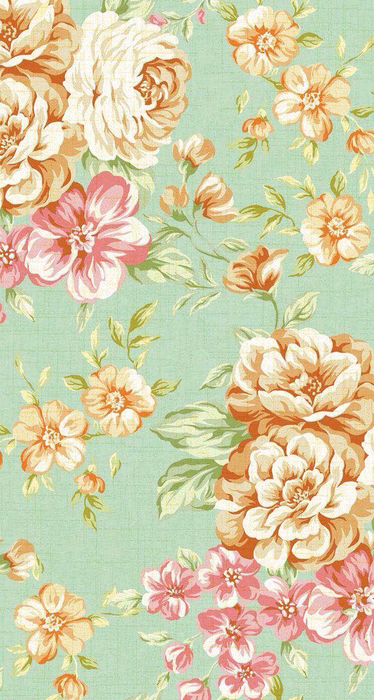 IPhone 5 Wallpapers - Vintage Flower Print 3