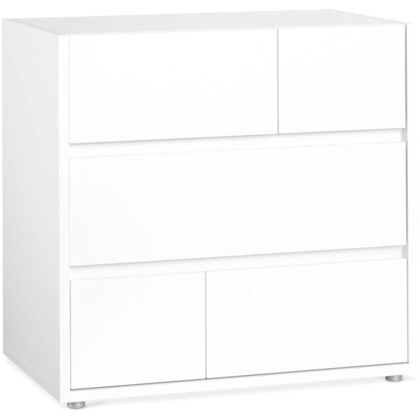 Cicero Ready-to-Assemble 3 Drawer Chest ($249) ❤ liked on Polyvore featuring home, furniture, storage & shelves, dressers, white, 3 drawer dressers, white bedroom dresser, drawer furniture, white 3 drawer dresser and white three drawer dresser