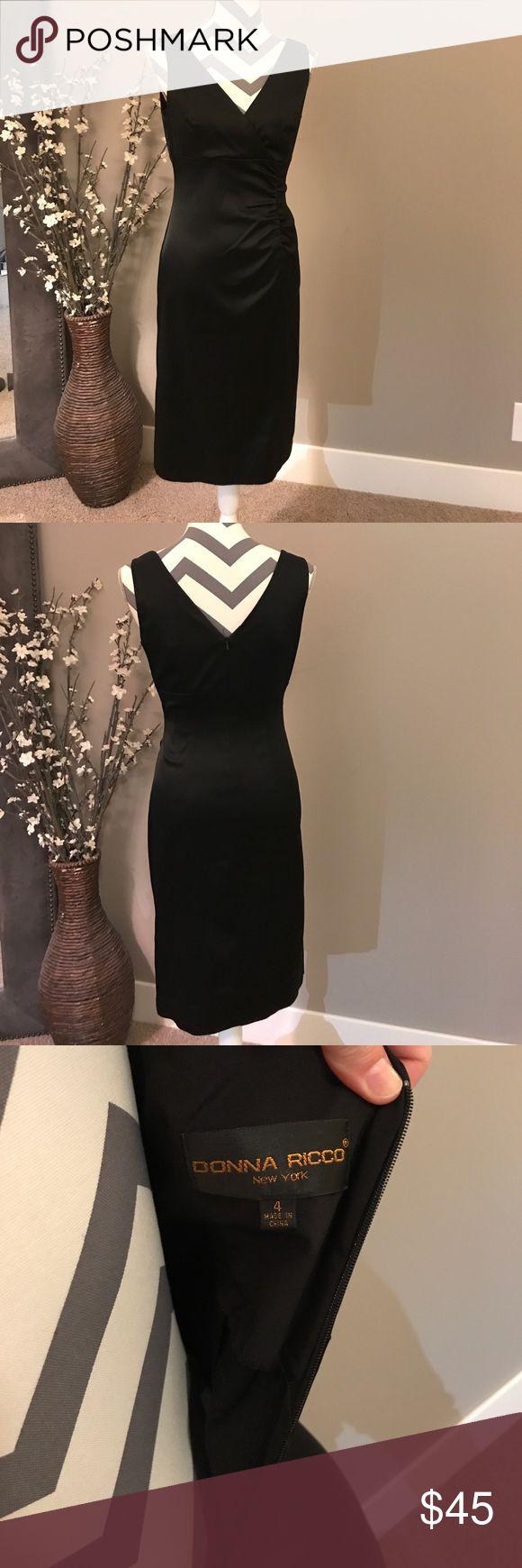 Donna Ricco LBD EUC, only worn once for a wedding.  Incredibly comfortable and very flattering! Donna Ricco Dresses Midi