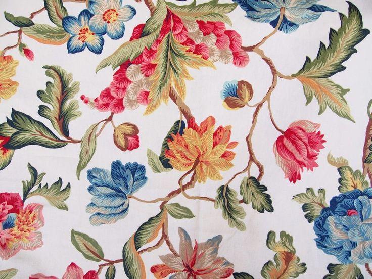 Zoffany Fabric Exotic Tree Linen Floral Botanic Print 3 Metres Curtain Cushions  | eBay