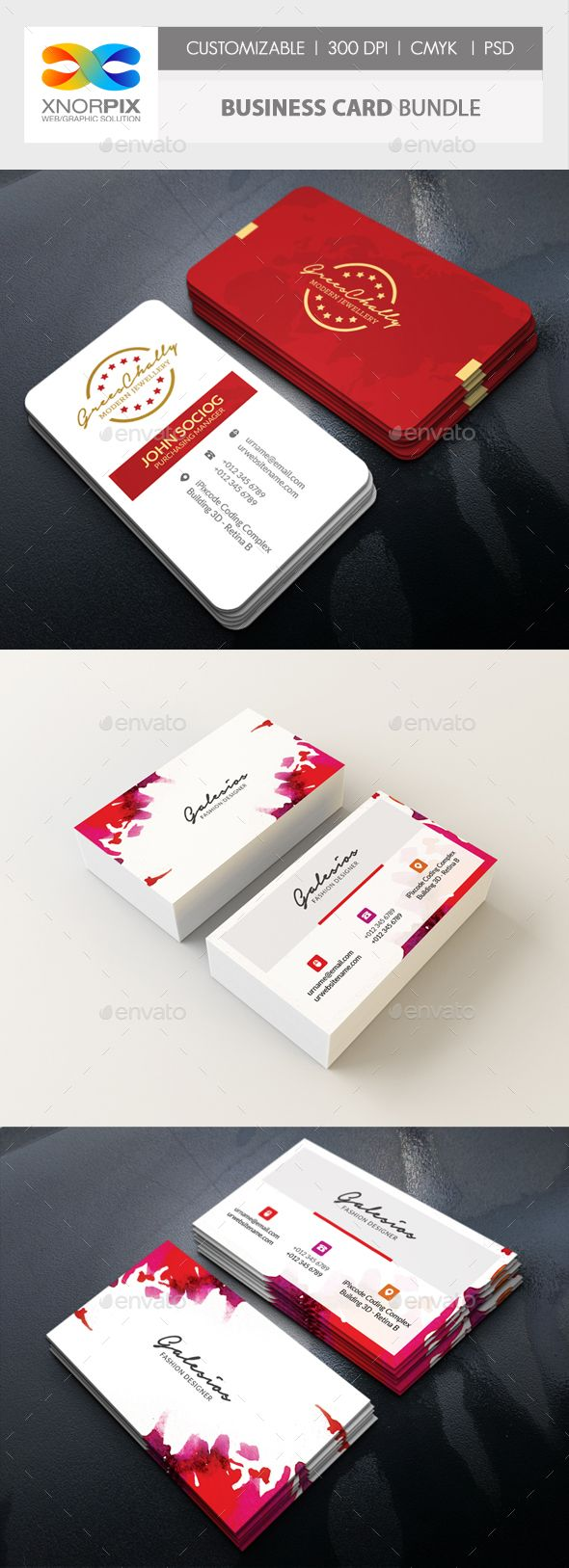#Business #Card #Bundle - Corporate Business Cards Download here: https://graphicriver.net/item/business-card-bundle/20057836?ref=alena994