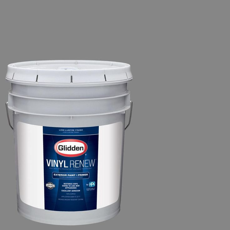 Glidden 5 gal. #HDGCN64U Seal Grey Low-Lustre Exterior Paint with Primer