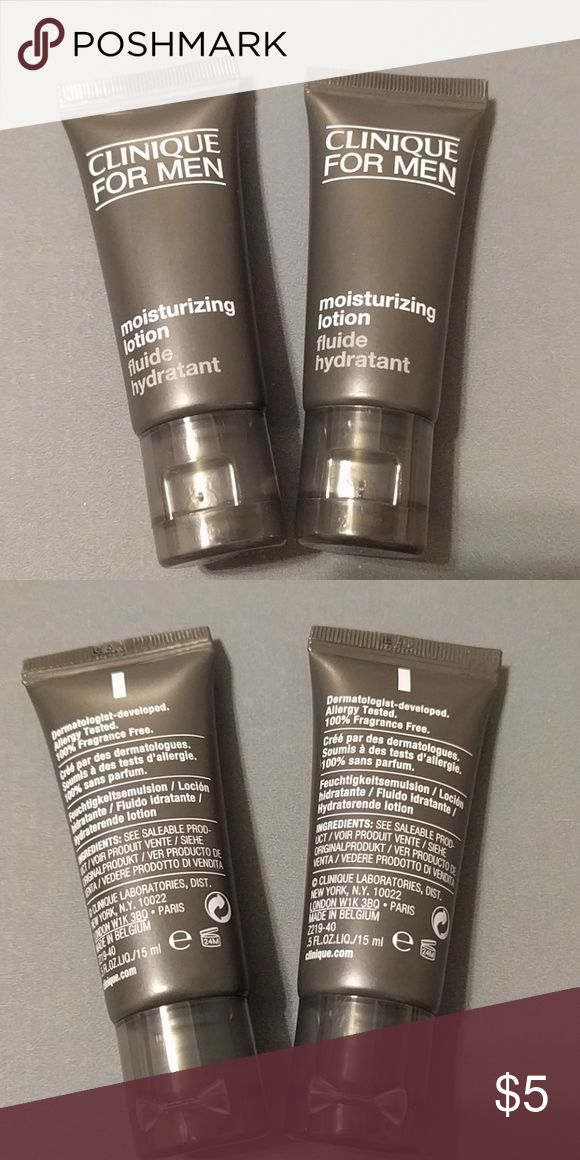 2x Clinique for Men moisturizer Never opened, 1 oz total, two deluxe sample sizes. Great bundle add on, get your man to keep his skin great too!  Authentic, came in a set. (I have no need for these since I don't have a boyfriend lol)  Bundle with my other listings for discount and shipping deal  All purchases from me come with free additional samples Clinique Makeup