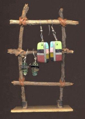 jewelry display idea | JEWELRY DISPLAY IDEAS / elena-mary-branch-ladder-earring-display