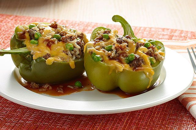 VELVEETA Fresh Slow Cooker Stuffed Peppers - This slow-cooker recipe takes just 15 minutes of prep in the morning—so you can come home to a cheesy and tender stuffed pepper dish in the evening.