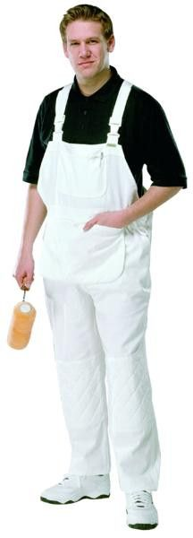 Prodec White Painters Decorators Bib and Brace - Overalls / Coveralls