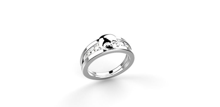 Probably the coolest ring I've ever seen but the price stings a little. Skull Engagement Ring 14k White Gold Skull Ring 14k Goth Engagement Ring Goth Ring Skulls Ring White Gold Skeleton Ring Diamond Alternative by ShineSwapCustomRings on Etsy https://www.etsy.com/listing/255694616/skull-engagement-ring-14k-white-gold