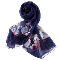 Spring Fashion Women's Scarf Exquisite Embroidery 25% wool Scarves Shawl Female Long Silk Scarf Blue and Coffee 210*80cm W6032