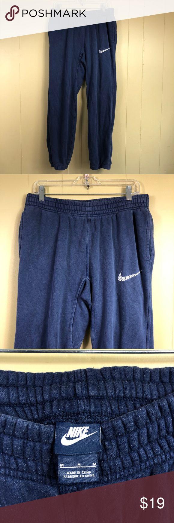 Nike Men's Elastic Waist Sweat Pants Fleece Nike Men's Elastic Waist Swe…