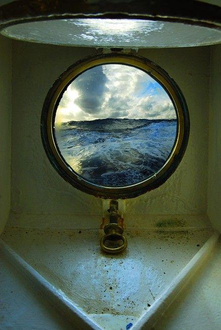 the sea: Window, Porthole, Port Hole, Ships, L Spaces, Sailing Away, Ocean View, The Sea, Sailing Boats