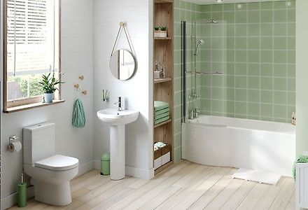 The Vitale Swift bathroom suite adds effortless style with modern features and gentle curved edges.