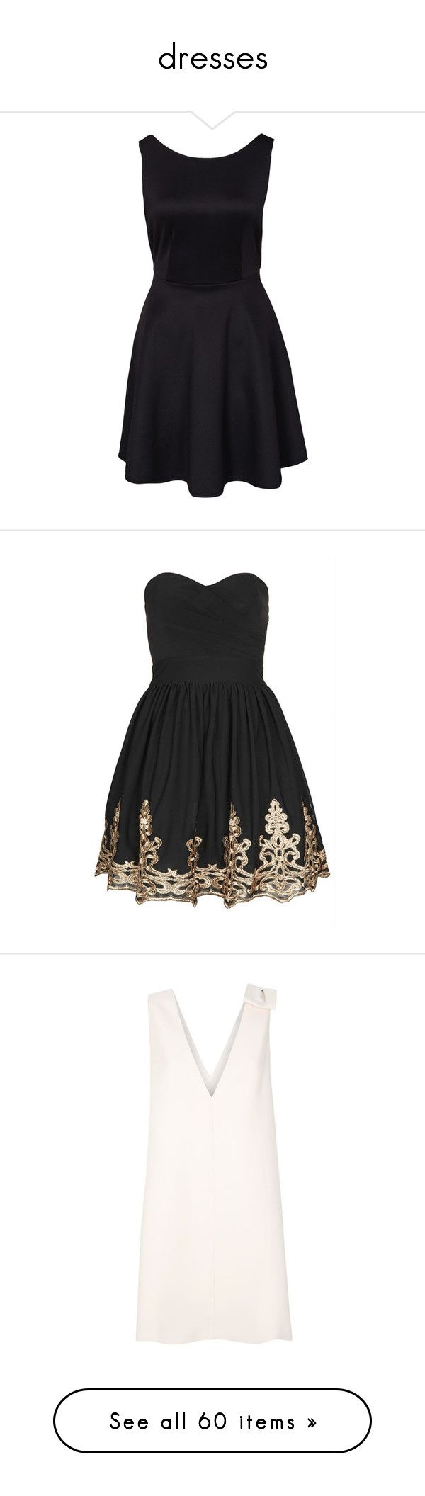 """dresses"" by simran26 ❤ liked on Polyvore featuring dresses, vestidos, black, party dresses, womens-fashion, tall skater dress, deep v neck skater dress, deep v neck black dress, tall dresses and low v neck dress"
