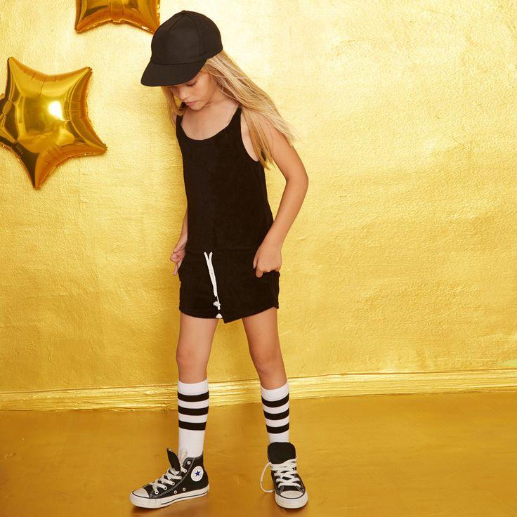 yporque - Towel Jumpsuit - black - kids fashion