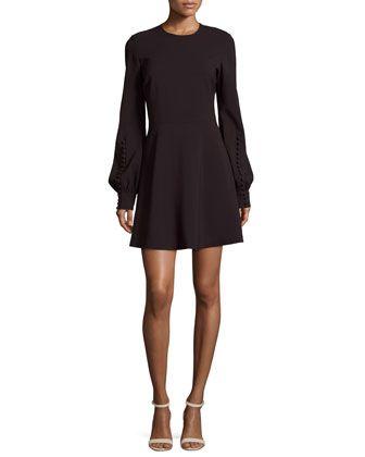 Lauren Jewel-Neck Blouson-Sleeve A-Line Dress by A.L.C. at Neiman Marcus.