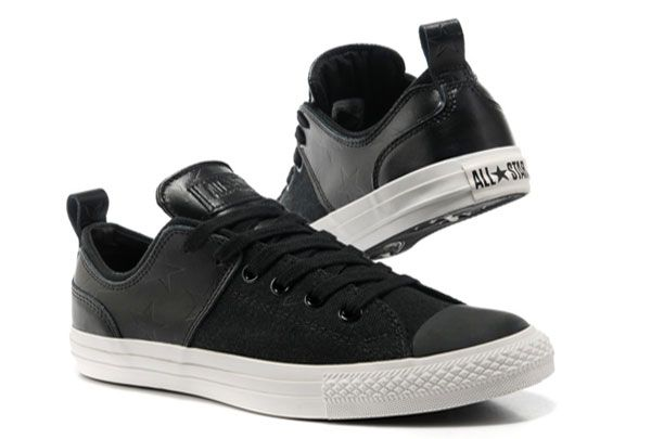 83a291b2e615 Black Converse Chuck Taylor All Star City Lights Low Tops Leather Canvas  Sneakers  converse  shoes