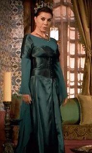Valide Ayse Hafsa Sultan's teal dress, ep.3 - Magnificent Wardrobe