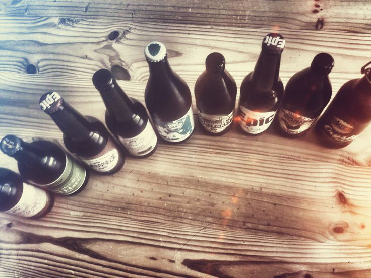 The line-up, a selection of Kiwi Beers