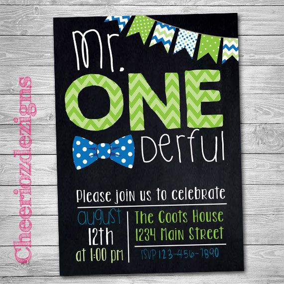 Mr. One-deful First Birthday Invitation- Bowtie Birthday Party Custom- First Birthday Party Onederful - Printable- Digital File by CheeriozDezigns on Etsy