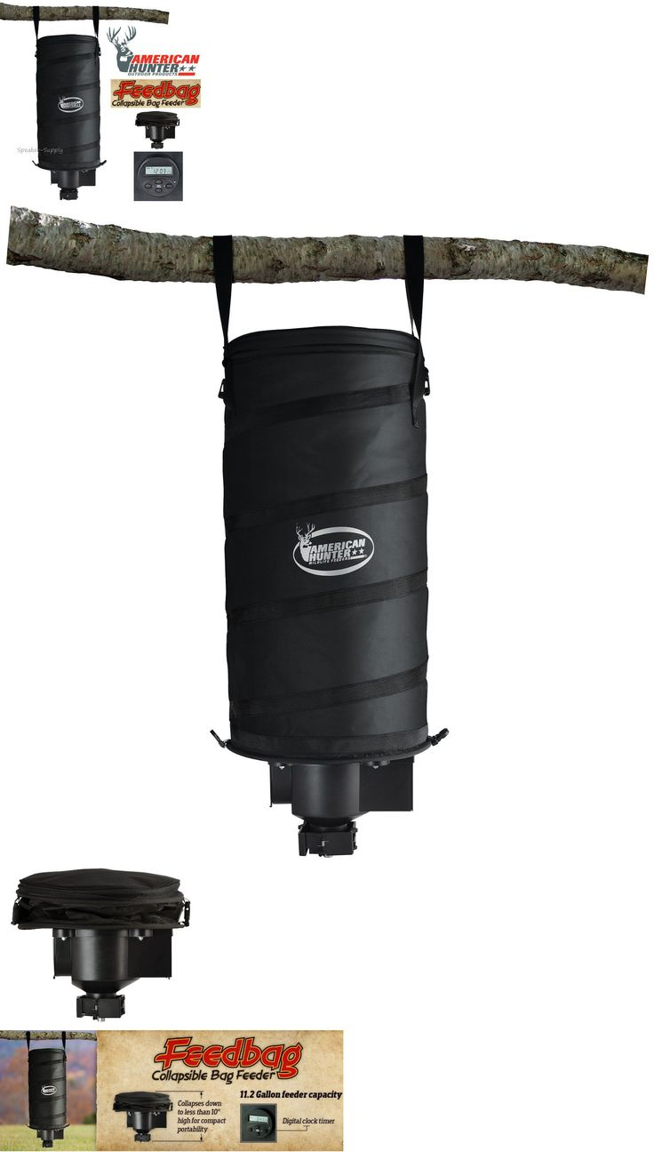 Game Feeders and Feed 52504: American Hanging Collapsible Bag Feeder 11 Gallon Digital Clock Deer Corn Bagkit BUY IT NOW ONLY: $60.49